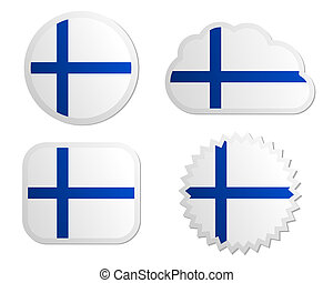 Finland flag labels