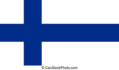 National flag of Finland: blue cross on white background. Vector illustration of Finnish flag