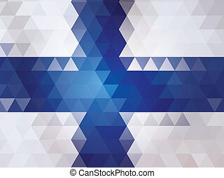 Finland flag of Vector