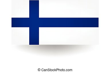 Official flag of Finland.