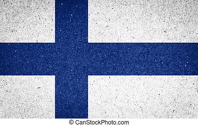 Finland flag on paper background