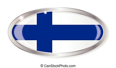 Finland Flag Oval Button