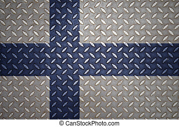 finland Flag Seamless steel diamond plate