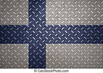 finland Flag Seamless steel diamond plate