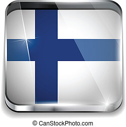Finland Flag Smartphone Application Square Buttons