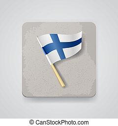 Finland flag, vector icon