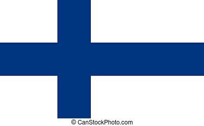 Finland Flag - Vector Illustration