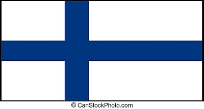 Finland flag vector illustration isolated on background