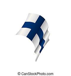 Finland flag, vector illustration