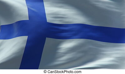finland flag waving loop
