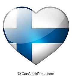 finland heart button