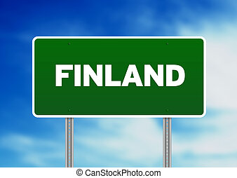 Finland Highway Sign
