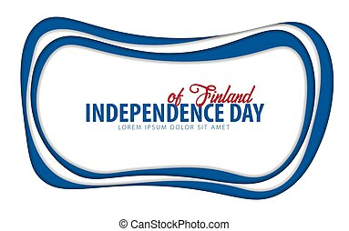 Finland. Independence day greeting card. Paper cut style.