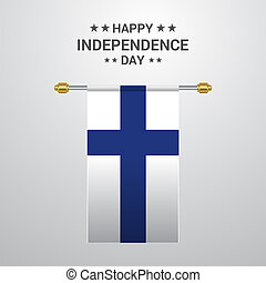 Finland Independence day hanging flag background