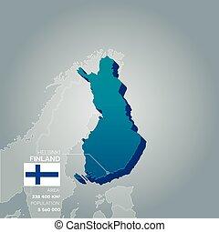 Finland information map.