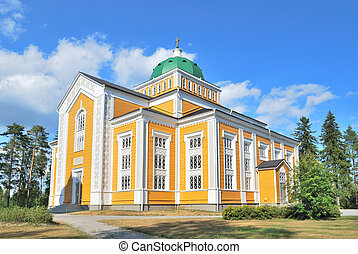 finland., kerimaki, église bois