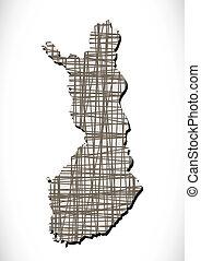 Finland map and flag idea design