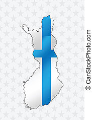 Finland map and flag idea design