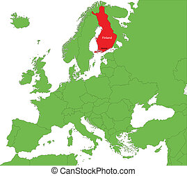 Finland map - Location of Finland on the Europa continent