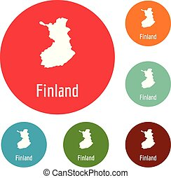 Finland map in black vector simple