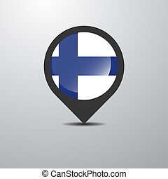 Finland Map Pin