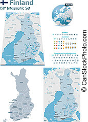 Finland maps with markers