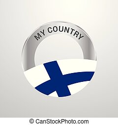 Finland My Country Flag badge