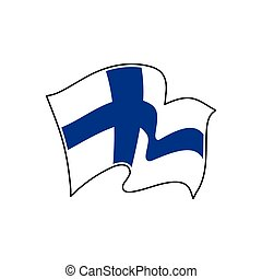 Finland national flag. Vector illustration. Helsinki