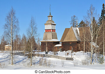 Finland. Old  church in Petaavesi
