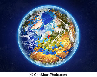 Finland on Earth from space - Finland from space. Planet...