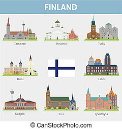 Finland. Symbols of cities