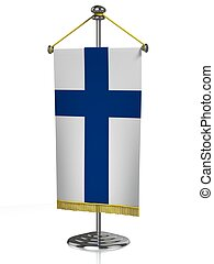 Finland table flag   - Finland table flag isolated on white