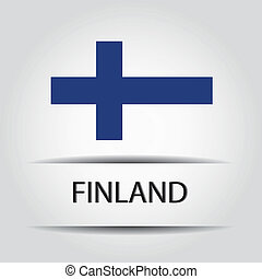 Finland text on special background allusive to the flag