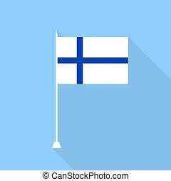 finland., vector, bandera, ilustración