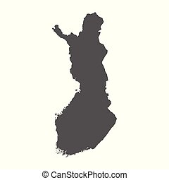 Finland vector map. Black icon on white background.