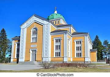 Finland. Wooden Church in Kerimaki