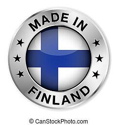 finlande, écusson, argent, fait