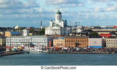 finlande, aérien, panorama, helsinki