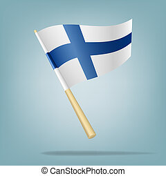 finlande, drapeau, vecteur, illustratio
