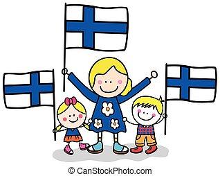 finlande, maman, gosses