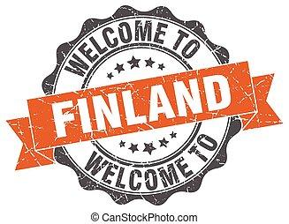 finlandia, rotondo, nastro, sigillo