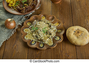 Finnbiff, Sauteed reindeer, roasted reindeer meat, Norwegian dish, traditional meal from Lapland, especially in Finland, Sweden, Norway and Russia and Sakha