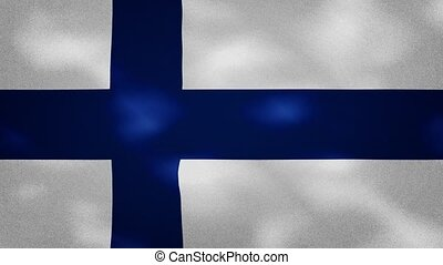 Finland dense flag fabric wavers, perfect loop for background
