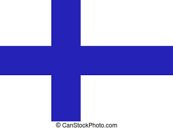 Finnish Flag - An illustration of the Finnish flag.