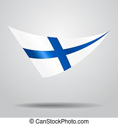 Finnish flag background. Vector illustration. - Finnish flag...