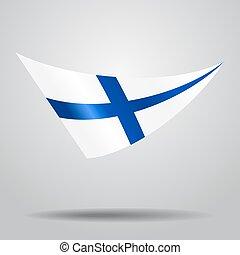 Finnish flag background. Vector illustration. - Finnish flag...