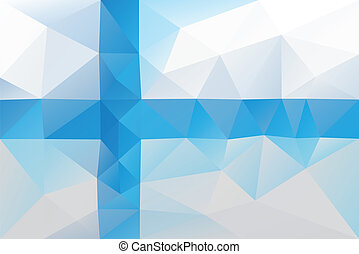 Finnish flag - triangular polygonal pattern