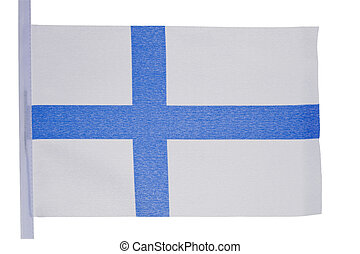 Finnish flag against a white background