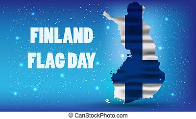Finnish Flag Day vector realistic national background. Illustration independence finland banner