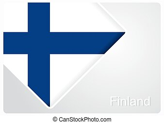 Finnish flag design background. Vector illustration. -...